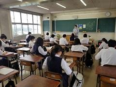 2教室に分かれての課題テスト